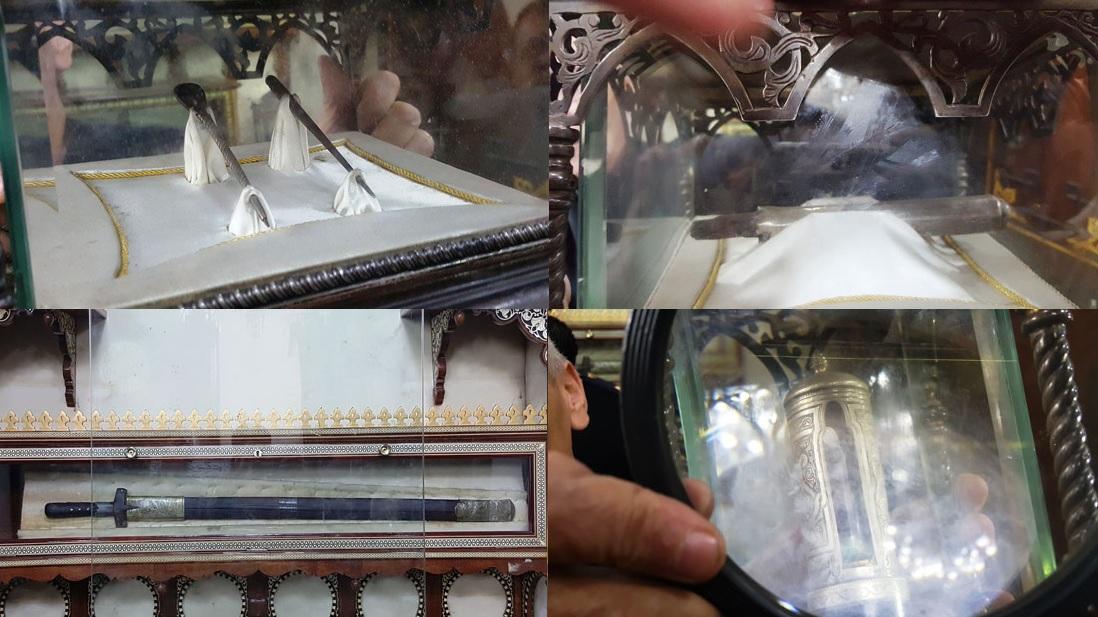 المقتنيات النبوية بمسجد الحسين بالقاهرة