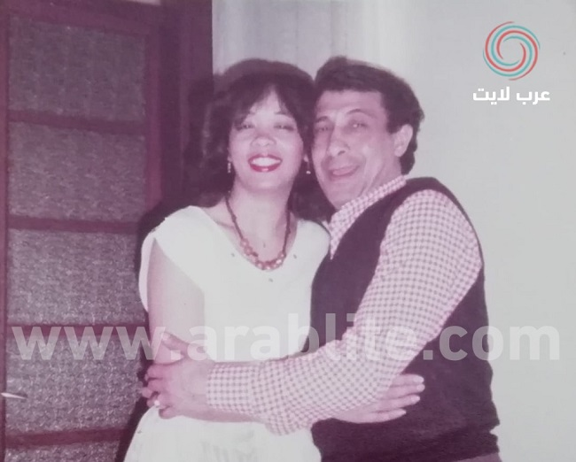 جمال رمسيس مع سوزانا، ابنة شقيقته رتيبة، وهو في الخمسينات من العمر