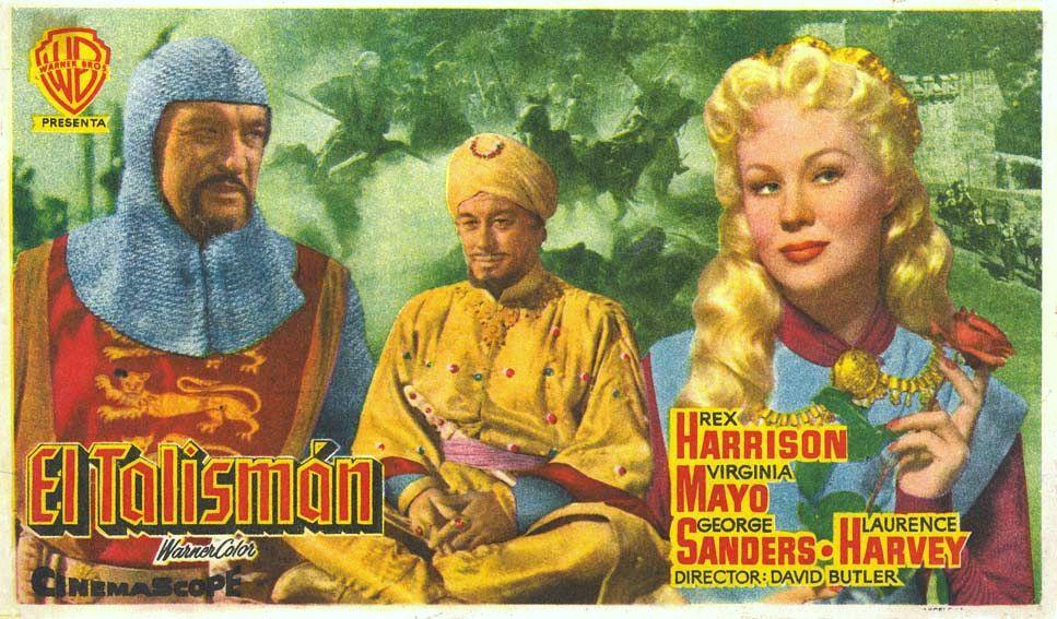 أفيش فيلم الملك ريتشارد والحروب الصليبية إنتاج عام 1954