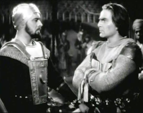إيان كيث وهنري ويلكوكسون في فيلم الحروب الصليبية إنتاج عام 1935